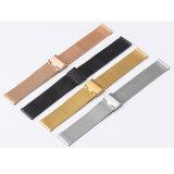 Des Timesea Uhr-Fertigung-von Mailand Uhrenarmband-0.4 Edelstahl-Uhrenarmband Ineinander greifen-Armbanduhr-des Band-304