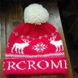 Chapéu feito malha Tuque feito sob encomenda dos cervos do Natal com POM POM