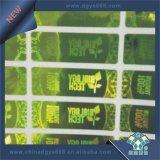 Stampa dell'autoadesivo dell'ologramma della pellicola verde