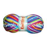 がっしりした虹によって染められる編む手編むポリエステルアクリルヤーン(T008)