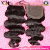 Königin-Schönheits-Haar-brasilianisches Haar-peruanisches Haar-malaysisches Haar-indisches Jungfrau-Menschenhaar-Spitze-Oberseite-Schliessen