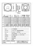 100*100mm 416ohm 1-5W de Correcte Spreker van de Kegel van het Document