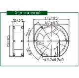 Luft-Fluss-axialer Ventilator Input Wechselstrom-120V grosser