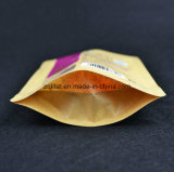 La impresión de Customzied Kraft se levanta la bolsa de la cremallera que 3 capas laminaron la bolsa de plástico vertical para el conjunto rojo del azúcar con la cremallera
