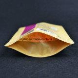 O saco de plástico de pé da impressão de Kraft com 3 camadas laminou o saco de plástico para o pacote vermelho do açúcar com Zipper