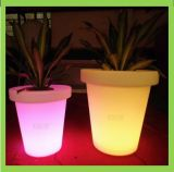 Piantatrice della decorazione LED della casa illuminata plastica del POT di fiore