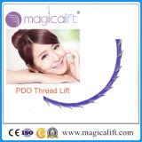 中国の製造業者の使い捨て可能な生殖不能Vライン3Dのトゲの表面持ち上がる糸Pdo