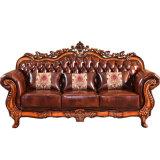 革ソファーは居間の家具(929R)のためにセットした