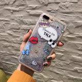 iPhone 6s/6s를 위한 액체 모래 만화 인쇄 이동 전화 상자를 가진 새로운 디자인 플러스, 더하기 7/7