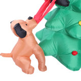 Árbol inflable de la decoración al aire libre del día de fiesta con la visualización del perro para el partido de la familia