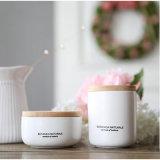Vela de cerámica del tarro de la cera perfumada blanca de la soja
