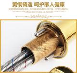Одной ручкой Luxury Gold Brass Алмазный Zf-M32 Смеситель для раковины Смеситель