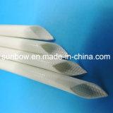Braided Sleeving стеклоткани силиконовой резины Coated