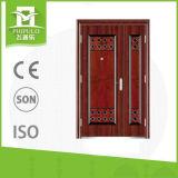 Diseño de acero de las puertas de la seguridad de la entrada principal de la buena calidad