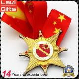 シリコーンのリボンが付いているカスタム印刷の金属のスポーツメダル