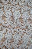 新式のポリエステル優雅な刺繍が付いている物質的なレースファブリック