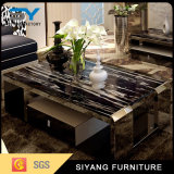 Table basse à la maison de chrome d'acier inoxydable de meubles avec le tiroir