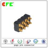 conetor de Pin de Pogo do aço inoxidável de 8pin SMT