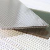 Лист поликарбоната UV упорный кристаллический полый на 10 лет гарантированности