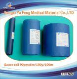 Rolle der Gaze-4ply der blauen Fertigkeit-Papier-Verpackung