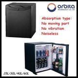 Minibar silenzioso dell'hotel di alta qualità di Orbita con il portello di vetro/Blakc per il Governo del salone
