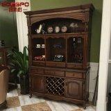 Шкафы шкафа вина Teak деревянные для дома (GSP19-005)