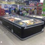 Congelador usado da caixa do alimento Frozen do supermercado