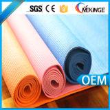 PVC pegajoso de alta densidad de la estera de la yoga, estera de la yoga del PVC