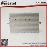 20dBm 65dB GSM 900/1800/2100 de TriSpanningsverhoger van het Signaal van de Band voor het Gebruik van het Huis