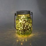 정원 사용 장식적인 개똥벌레 LED 요전같은 유리제 단지 빛