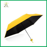 おかしくまっすぐなハンドルの強い小型傘