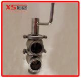 50,8 mm en acier inoxydable Ss304 Traitement des aliments Vanne de dérivation de débit pneumatique