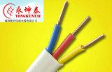 Fios elétricos lisos do PVC do gêmeo e da terra