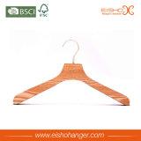 Neuer Entwurfs-Form-Streifen-hölzerner Kleiderbügel