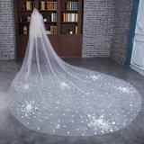 Voile nuptiale de mariage en gros long avec le modèle d'étoile