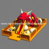 Juego inflable gigante de Funcity del dragón, patio inflable de la gorila del dragón