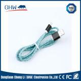 alta qualità materiale di cuoio 2.1A che carica il cavo del USB