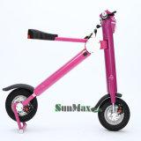 Bike розового цвета самый лучший электрический для повелительницы