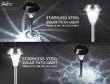 Indicatore luminoso solare del percorso dell'acciaio inossidabile con il LED bianco