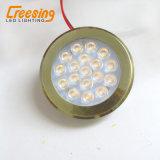 Luz plástica do diodo emissor de luz do bronze 2W para mobílias