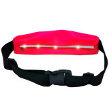 Bolso elástico de la correa de cintura del deporte con la luz del LED