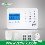 Panel de alarma de intrusión inalámbrica con la línea telefónica para uso doméstico