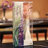 Aroma-Reeddiffuser- (zerstäuber)ausgangsduft-Luft-Erfrischungsmittel-REEDdiffuser (zerstäuber) mit Rattan-Stöcken und getrockneter Blume in der keramischen Flasche