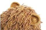 方法冬の暖かい編まれた帽子の動物の帽子か帽子