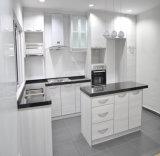 Cabinetry feito sob encomenda branco da cozinha do PVC do estilo francês