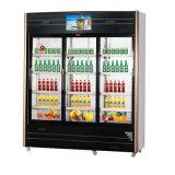 Refrigerador compato de abertura de três multimédios de vidro da porta com tela do diodo emissor de luz
