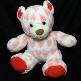 2017 neuer weißer rosafarbener Heartsplush angefülltes Tier-Teddybär