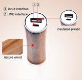 Côté en bois véritable de pouvoir du type 2600mAh pour le chargeur de batterie d'iPhone