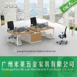 Qualitäts-Stahlbein-Doppelt-Seiten-Büro-Arbeitsplatz mit örtlich festgelegtem Untersatz