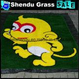 学校の運動場の装飾のマットの人工的な草のマット